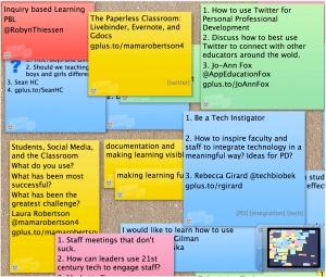 edcampHOME Lino Brainstorming Board