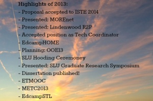 Professional Highlights of 2013